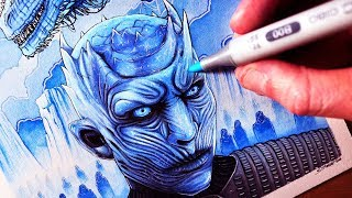 Download Let's Draw the NIGHT KING & VISERION - GAME OF THRONES - FAN ART FRIDAY Video