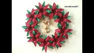 Download DIY# 52 Xmas Wreath from Recycled Materials Best Out Of Waste Video