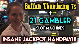 Download CRAZY JACKPOT HANDPAY! 21 GAMBLER SLOT MACHINE! INSANE RUN!!! Video