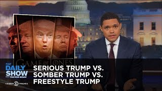Download Serious Trump vs. Somber Trump vs. Freestyle Trump: The Daily Show Video