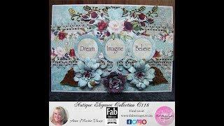 Download 18.Cardmaking Tutorial: FabScraps Antique Elegance Trio Flower Card Video