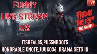 Download LIVE STREAM: FUNNY FRIDAY THE 13TH LIVESTREAM PART 2! PU55NBOOT5,DRAMASETSIN,CNOTE,JUUKO! Video