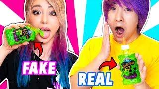 Download REAL SLIME VS FAKE SLIME CHALLENGE! Video