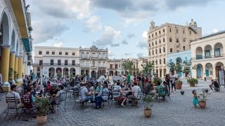 Download Plaza Vieja, the Old Square, in Havana, Cuba Video
