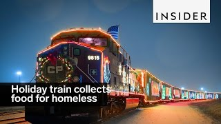 Download This holiday train travels collecting food for the homeless Video