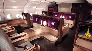 Download Qatar Airways A380 First Class Doha to Paris (+Al Safwa lounge) Video