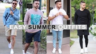 Download 4 Easy Summer Outfits for Men 2016 | Men's Fashion & Style | Alex Costa Video