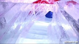 Download [HD] Sliding Down a Queen Mary Ice Sculpture Slide 2013 - CHILL 2013 Video