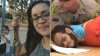 Download Man convicted of killing Long Beach mom, daughter restrained in court, sentenced to life Video