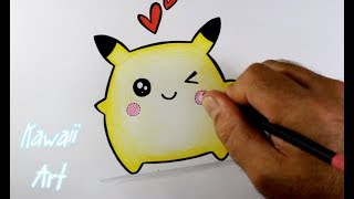 Download Como Desenhar PIKACHU KAWAII - passo a passo Video