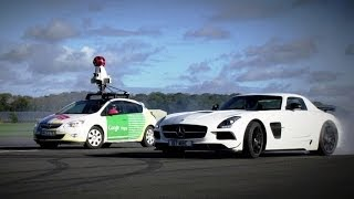 Download The Stig Vs. Google Street View Car - Top Gear Track now available on Google Maps! Video