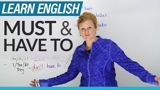 Download English Grammar: MUST & HAVE TO Video