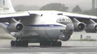 Download Russian Air Force Ilyushin IL-76 Screaming Loud Departure from Boston Logan!! Video