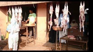 Download Meat / Mutton & Chicken Market Shops In Lasalgaon Rural Village Of India 2015 [HD VIDEO 1080p] Video