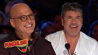 Download STAND UP COMEDIANS make Simon Cowell & Howie Mandel On America's Got Talent Laugh! Video