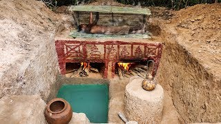 Download Build Ancient Steam Bath And Mini Pool Underground Video