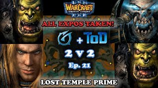 Download Grubby | Warcraft 3 The Frozen Throne | 2v2 with ToD Orc+HU v Orc+UD - All Expos Taken! -Lost Temple Video