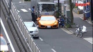 Download Cảnh sát giao thông đạp xe đuổi theo siêu xe Lamborghini ở Nhật Bản Video