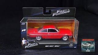 Download Fast & Furious 8 - Dom's 1961 Chevy Impala - Jada Toys 1:32 Unboxing Video