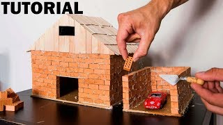 Download HOW TO BUILD A BRICK WALL: BRICKLAYING MINI HOUSE and GARAGE Video