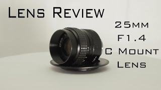 Download 25mm F/1.4 C Mount Lens Review (BMPCC) Video