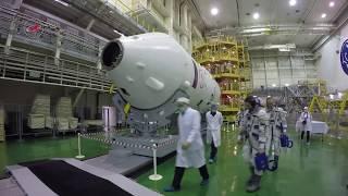 Download Первая тренировка экипажа ТПК «Союз МС-08» Video