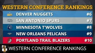 Download NBA Western Conference Projected Rankings For The 2018-19 Season Video