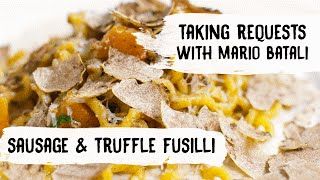 Download Mario Batali Cooks Pasta with Sausage, Butternut Squash and Truffles Video