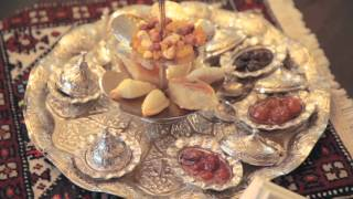Download Traditional Azerbaijan Tea Ceremony at Kempinski Hotel Badamdar Video