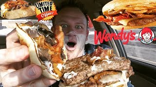 Download Wendy's ☆SMOKY MUSHROOM BACON CHEESEBURGER☆ Food Review!!! Video