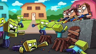 Download Minecraft - NERF WAR ZOMBIE CHALLENGE: Deadly Nerf GUNS! (Zombies vs House) Video