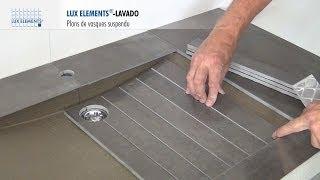 Download LUX ELEMENTS Montage : LAVADO - Plan de vasque - Design et Suspendu Video