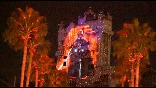 Download Darth Vader / Death Star projections on Tower of Terror at Star Wars: Galactic Nights Video