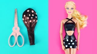 Download 👗 DIY Barbie Dresses with Balloons Part 2 Making Easy No Sew Clothes for Barbies Creative for Kids Video