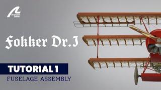 Download Fokker Dr. I 1/16: Montaje estructura fuselaje / Fuselage structure assembly / Assemb. struc. fusel. Video
