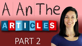 Download Articles - when to use 'the' | English Grammar Video