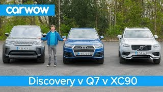 Download Volvo XC90 vs Audi Q7 vs Land Rover Discovery 2018 - what's the best seven seat SUV? | Head2Head Video
