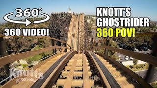 Download Ghostrider Roller Coaster 360 VR POV Knotts Berry Farm California Video