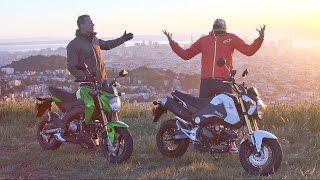 Download Honda Grom & Kawasaki Z125 Pro In San Francisco | ON TWO WHEELS Video