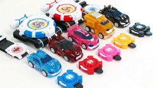 Download Power Battle Watch Car Season2 Ultra Watch Car Mini Cars Shooting Play Transformers Car Toys Video