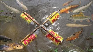 Download Smart Girl Make Fish Trap Using BIG Coca Cola Plastic Bottle To Catch A Lot of Fish Video