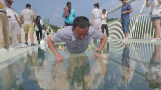 Download The longest and highest glass bridge opened to public, you can't imagine how fun it is Video
