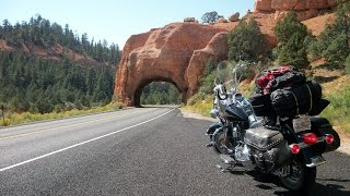 Download Harley Davidson road trip Red canyon Utah highway 12 Bryce Canyon national park motorcycle ride Video