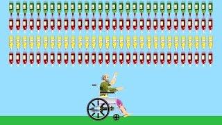 Download SURVIVE 1000 BOTTLES? (Happy Wheels) Video