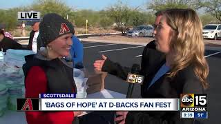 Download Arizona Diamondbacks taking action to pack ″Bags of Hope″ Video
