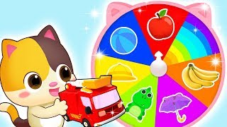 Download Colors on Magic Wheel | Colors Song | Police Cartoon | Kids Songs | Kids Cartoon | BabyBus Video