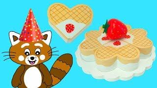 Download Pukkins bakar en tårta - Rolig film för barn - Lekolär med Pukkins Video
