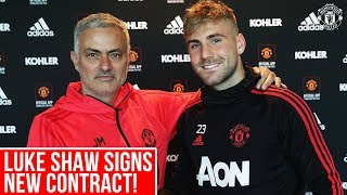 Download Luke Shaw delighted to sign new Manchester United contract Video