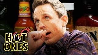 Download Seth Meyers Unravels While Eating Spicy Wings | Hot Ones Video