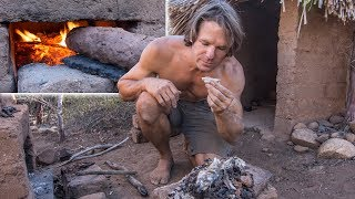 Download Fish Baked in Clay on Primitive Rocket Stove Video